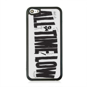 Leather Coated PC Protective Case for iPhone 5c - All Time Low