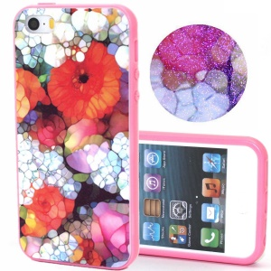 Detachable TPU + Plastic Phone Case for iPhone 5s 5 - Abstract Flowers
