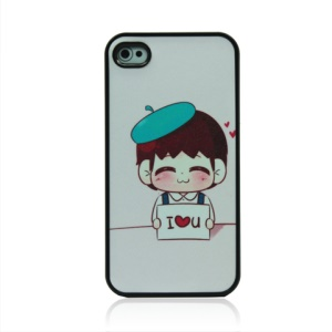 Girl Holding Confession of Love Hard Plastic Case for iPhone 4 4S