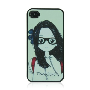 Adorable Girl Hard Protective Plastic Shell for iPhone 4 4S