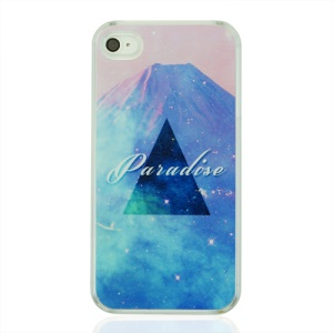 Triangle and Paradise Hard Plastic Case for iPhone 4 4S