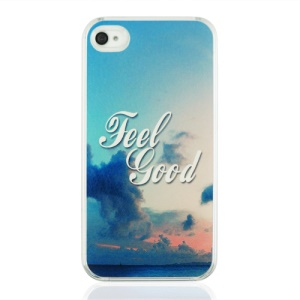Feel Good Hard Plastic Cover for iPhone 4 4S