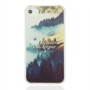 Misty Mountains and Words Hard Plastic Shell for iPhone 4 4S