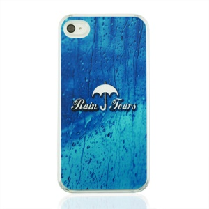 Rain Tears and Umbrella Plastic Phone Case for iPhone 4 4S