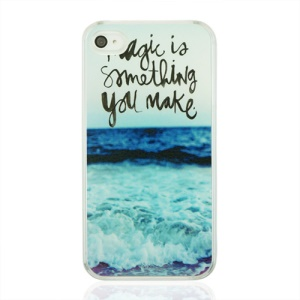 Magic Is Something You Make and Sea Plastic Phone Cover for iPhone 4 4S