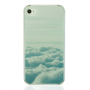 Clouds Pattern Protective Plastic Back Cover for iPhone 4 4S