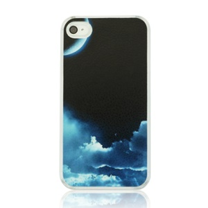 Moonlight Pattern Hard Plastic Case Shell for iPhone 4 4S
