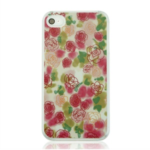 Beautiful Flowers Hard Plastic Back Cover for iPhone 4 4S