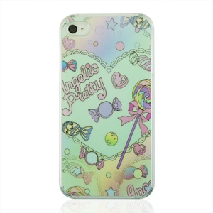 Sweet Candies Protective Plastic Shell for iPhone 4 4S