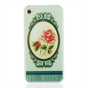 Elegant Rose Protective Plastic Back Cover for iPhone 4 4S
