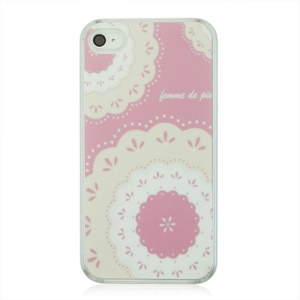 Floret and Lace Pattern Plastic Phone Case for iPhone 4 4S