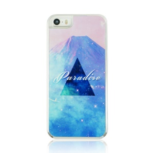 For iPhone 5 5s Hard Plastic Case - Triangle and Paradise