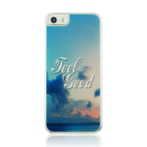 Plastic Hard Cover Case for iPhone 5 5s - Feel Good and Sky