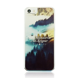 Plastic Hard Cover Case for iPhone 5 5s - Mountain