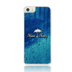 For iPhone 5 5s Plastic Hard Cover Case - Rain Pattern
