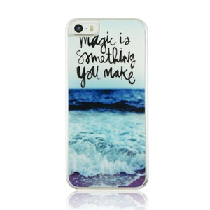 For iPhone 5 5s Plastic Phone Case - Quotes and Ocean