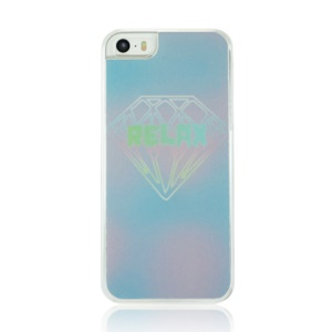 For iPhone 5 5s Plastic Hard Cover Case - Diamond Pattern