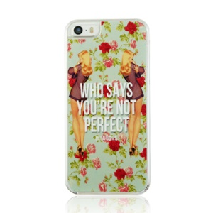 Sexy Girls and Flowers Pattern Plastic Hard Cover Case for iPhone 5 5s
