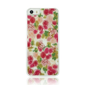 Charming Flowers Pattern Plastic Phone Case for iPhone 5 5s