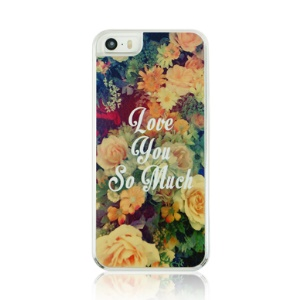 Quotes and Flowers Pattern Plastic Hard Cover Case for iPhone 5 5s