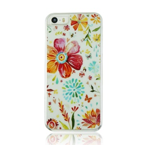 Daisy Flowers Pattern Plastic Protective Case for iPhone 5 5s