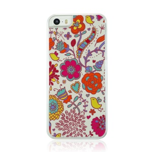 Little Flowers Pattern Plastic Hard Cover Case for iPhone 5 5s