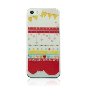 For iPhone 5 5s PC Hard Phone Case - Cartoon Curtain