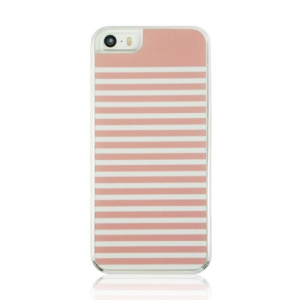 Plastic Hard Phone Case for iPhone 5 5s - Pink Stripes Pattern
