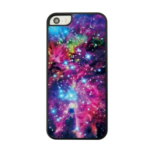 For iPhone 5s 5 Leather Coated Hard Cover Shell - Galaxy Pattern