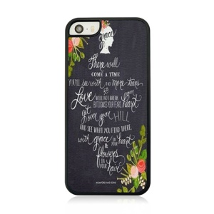 Quote and Flower Hard Plastic Shell for iPhone 5 5s