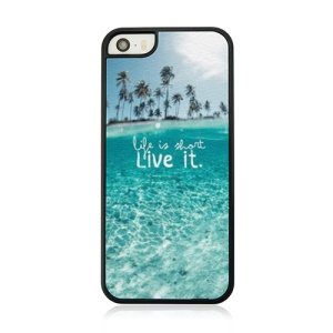 Life Is Short Live It Protective PC Back Case for iPhone 5 5s