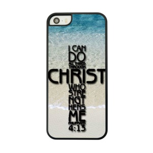 Word Shaped Cross Protective PC Back Shell for iPhone 5 5s