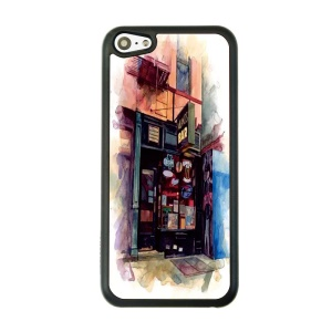 Leisure Bar Hard Plastic Back Cover Shell for iPhone 5c
