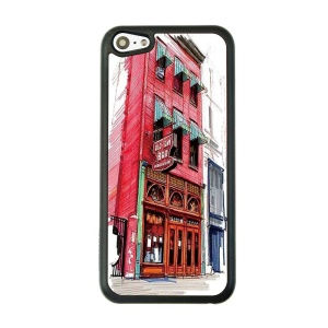 Red Building Hard Plastic Back Case Shell for iPhone 5c