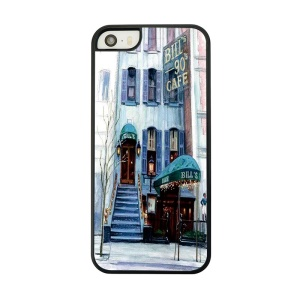 Coffee Shop Place Painted Plastic Cover for iPhone 5 5s