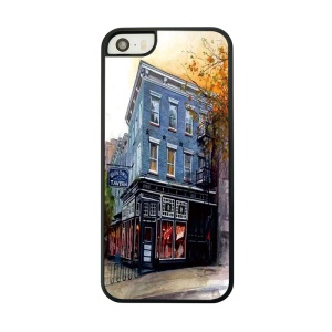 Hotel Building Painted Plastic Phone Case for iPhone 5 5s