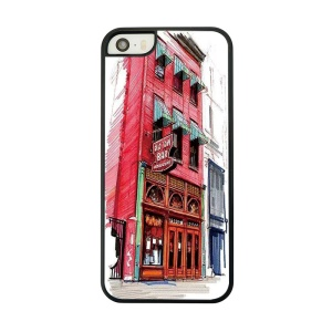 Red Building Place Painted Protective Case for iPhone 5 5s