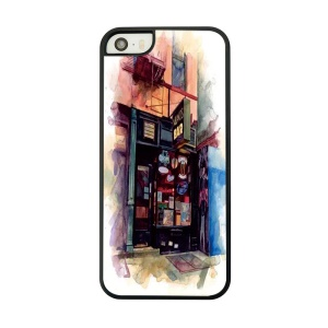 Retail Store Building Place Painted PC Cover Case for iPhone 5 5s