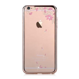 DEVIA Crystal Plating Hard Case Cover for iPhone 6 Plus / 6s Plus - Fallen Flowers