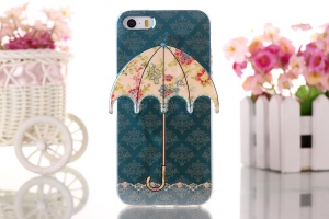 Moroccan & Colorful Flower 3D Umbrella Gel TPU Case for iPhone 5 5s