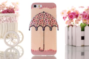 Polka Dots & Lips 3D Umbrella Gel TPU Cover Case for iPhone 5 5s