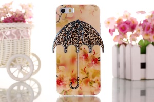 Flowers & Leopard 3D Umbrella Gel TPU Skin Shell for iPhone 5 5s
