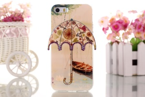 Canoe & Branch 3D Umbrella Gel TPU Cover for iPhone 5 5s