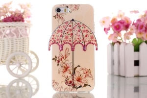 Blooming Flowers 3D Umbrella Gel TPU Shell for iPhone 5 5s