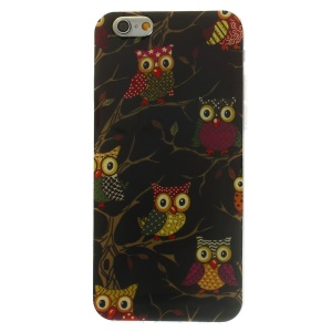 Shiny Powder Glossy TPU Case for iPhone 6 4.7 inch - Multiple Owls on Branch