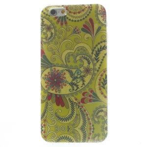 Flash Powder Glossy TPU Shell for iPhone 6 4.7 inch - Green Paisley Pattern