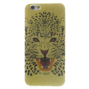 Flash Powder Glossy TPU Back Case for iPhone 6 4.7 inch - Howling Leopard