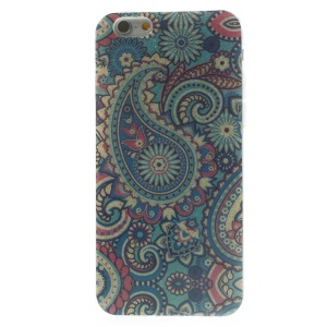 Flash Powder Glossy TPU Back Cover for iPhone 6 4.7 inch - Blue Paisley Pattern