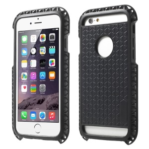 Stylish 3D Triangle TPU Protective Case for iPhone 6 - Black