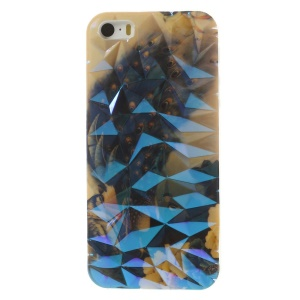 Blu-ray IMD 3D Irregular Figures TPU Case Cover for iPhone 5 5s - Charming Peacocks